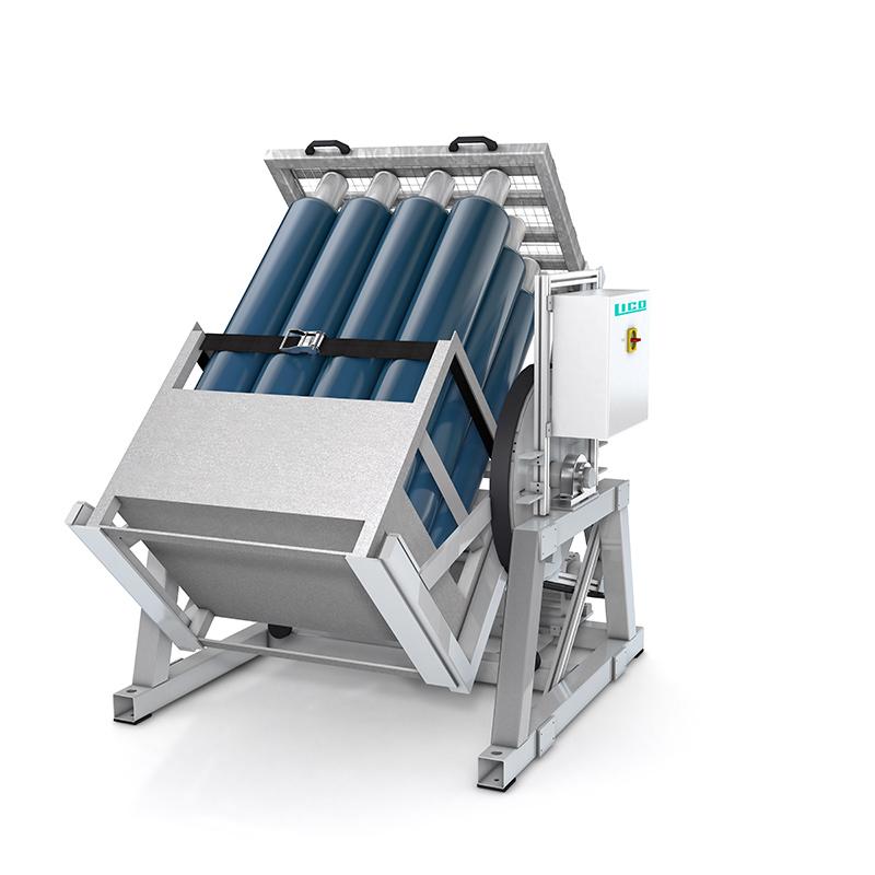 LICO Stahl- und Kunststofftechnik GmbH - Cylinder Inverter / Cylinder Roller - Halbautomastiche Gasmischmaschine /Cylinder Inverter / Cylinder Roller für 12 Cylinder