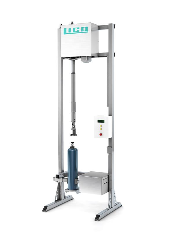 LICO Stahl- und Kunststofftechnik GmbH - Ein- und Ausdrehvorrichtung für Stahlflaschenventile / Gas Cylinder Inserts